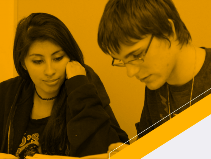 cover photo of multiple pathways forward report students working together