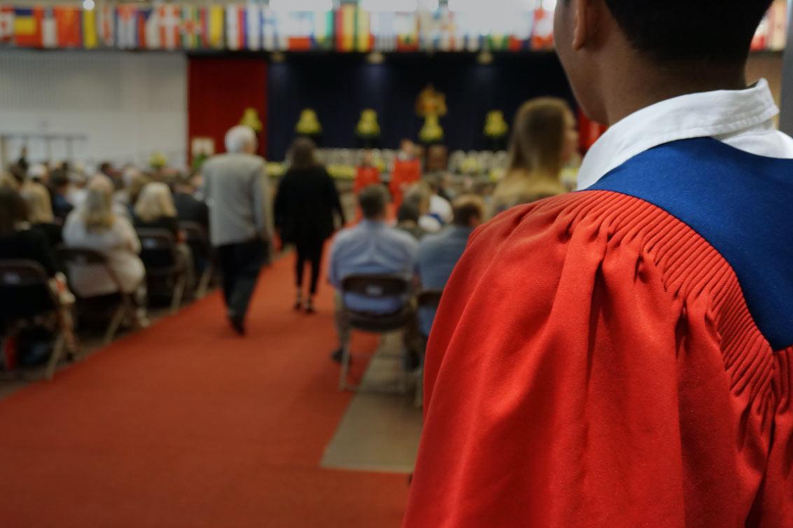 graduate looking forward