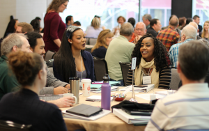 faculty at a carnegie math pathways event